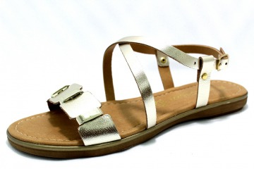 MARCO TOZZI PLATINUM Schuhe MARCO TOZZI Damen Sandaletten (flach) gelbgoldorange PLATINUM 29167009 Lederdecksohle Gummisohle modisch Materialkom 22