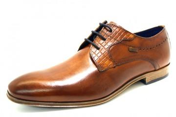 BUGATTI 6300 COGNAC Schuhe BUGATTI Herren Halbschuh (Leichtsohle) braun 6300 COGNAC 13033052 Futterkombinationen glatte Sohle modisch Leder