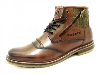 c2e2f29e94135c BUGATTI COGNAC-6300 Schuhe BUGATTI Herren Boots (sportlich) braun  COGNAC-6300 16032050 Textilfutter Gummisohle Reissverschluß Leder ...