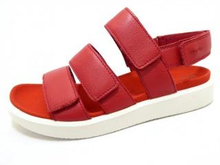 ECCO FLOWT CHILLI RED Schuhe ECCO Damen Sandaletten (flach) rotpinkbordo FLOWT CHILLI RED 29153003 Weichfußbett Formgummisohle Klettverschluß