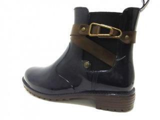 Rieker Damenschuhe Gummistiefelette Boots Warmfutter in Blau P8161-14