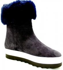 HÖGL OCEAN Schuhe HÖGL Damen Winterstiefel (gefüttert) blau violett OCEAN 27588004 Warmfutter Formgummisohle modisch Materialkom