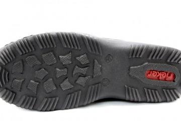 RIEKER JURA SCHWARZ Schuhe RIEKER Damen Slipper (modisch) schwarz JURA SCHWARZ 24608004 Touch it Weichtritt Gummisohle mit Gummizug Materialkom