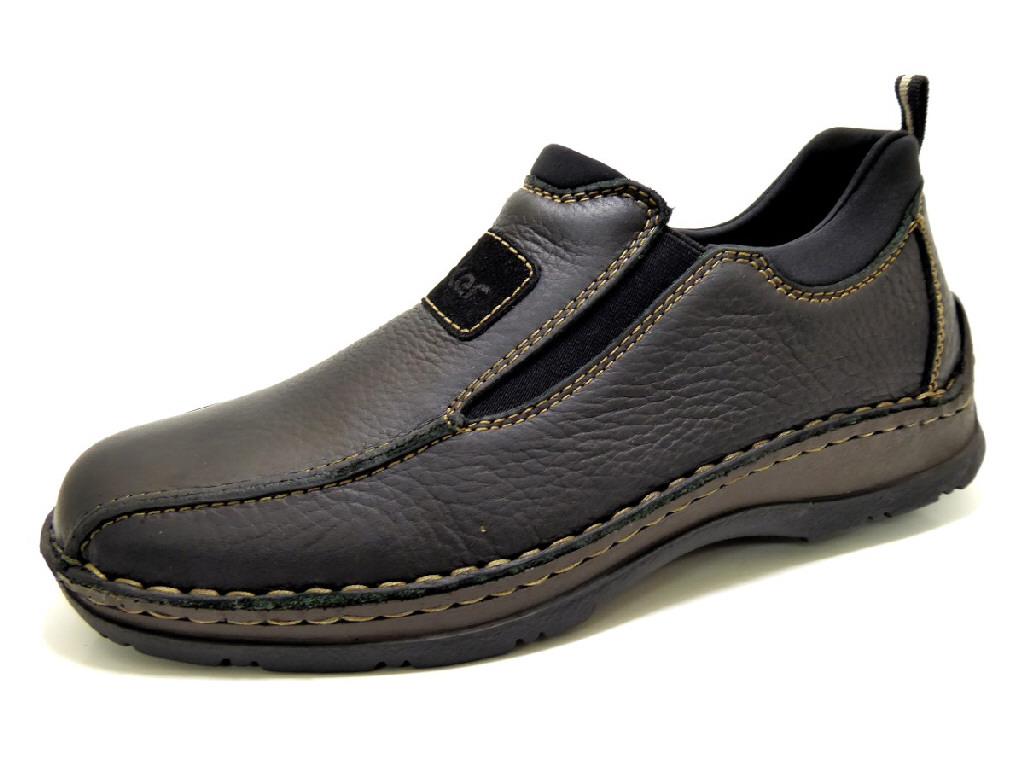 c257fc56ffcd RIEKER MICHIGAN SCHWARZ Schuhe RIEKER Herren Slipper (Gummisohle ...