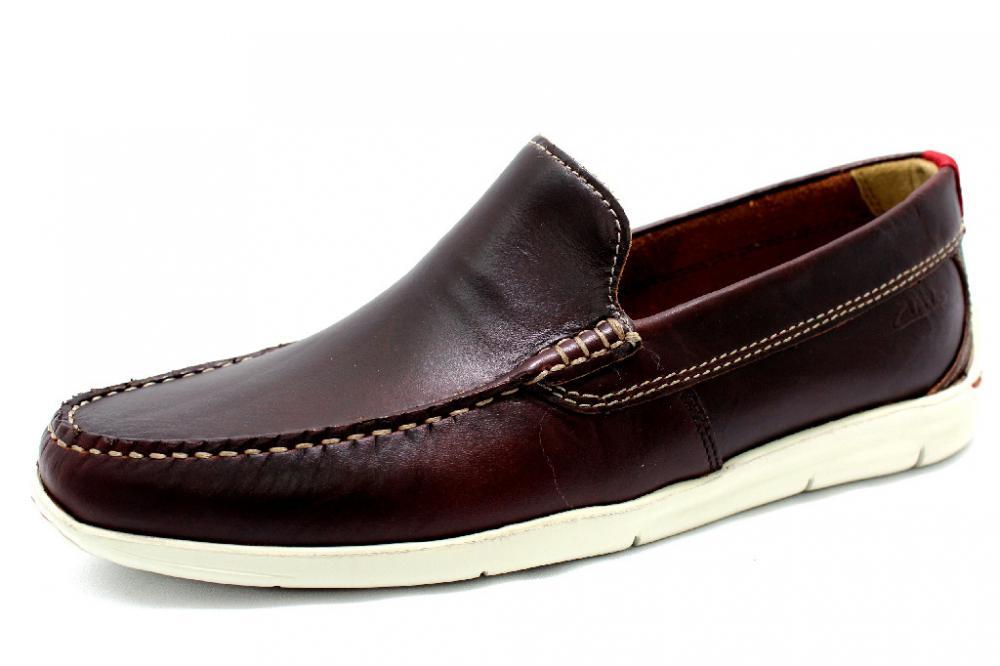 8f281e774f1e CLARKS KARLOCK LANE BROWN Schuhe CLARKS Herren Slipper (Gummisohle ...