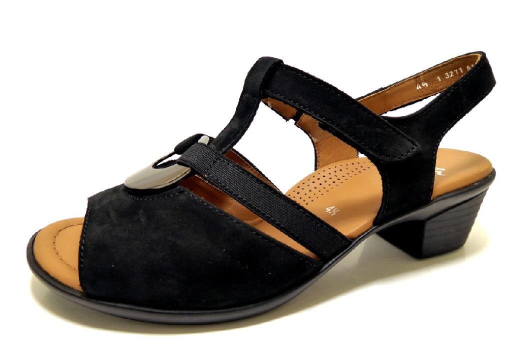 ARA LUGANO BLACK Schuhe ARA Damen Sandaletten (bequem) schwarz ... 7058febc33