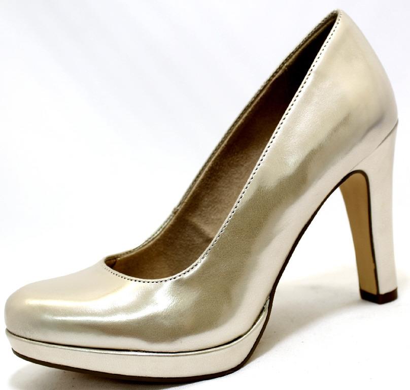 9bad8f6b2210 TAMARIS 909 LIGHT GOLD Schuhe TAMARIS Damen Pumps (elegant) grau ...