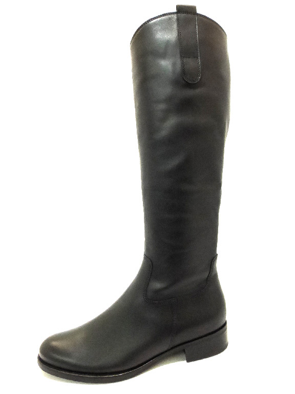 d6bfd146f50f GABOR MICROCALF SCHWARZ Schuhe GABOR Damen Stiefel (flacher Absatz ...