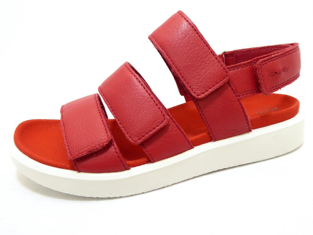 e8c09e3af6b876 ECCO FLOWT CHILLI RED Schuhe ECCO Damen Sandaletten (flach) rot pink ...