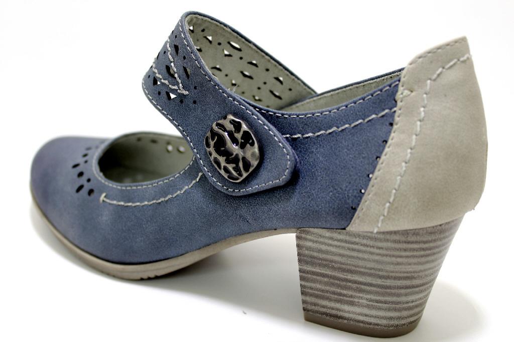 Jana Damen Jeans PumpsbequemBlau Schuhe 846 Violett H n0mNyvwP8O