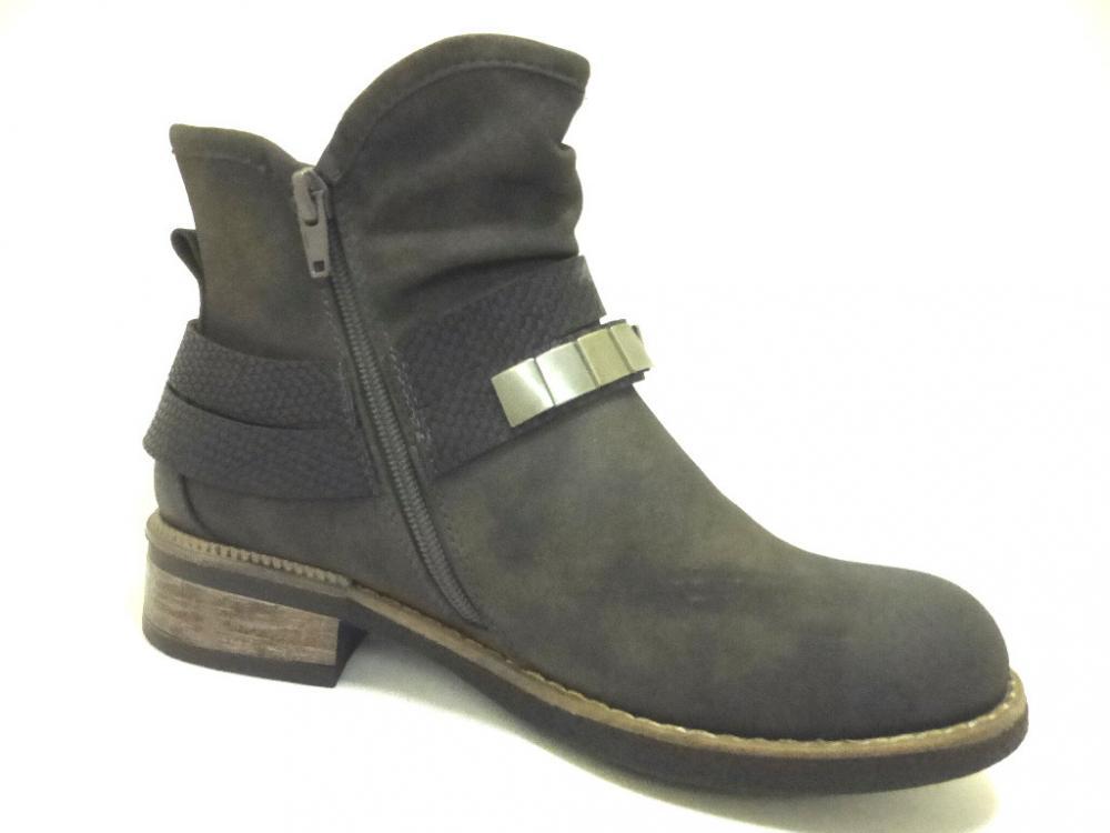 bd2b0c631d82 RIEKER GRAU Schuhe RIEKER Damen Wi.-Stiefletten (gefüttert) grau ...